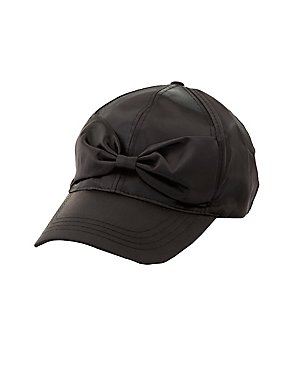 Satin Bow Baseball Hat