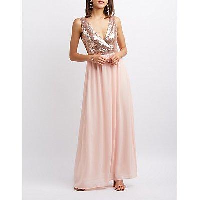 Sequin Bodice Maxi Dress