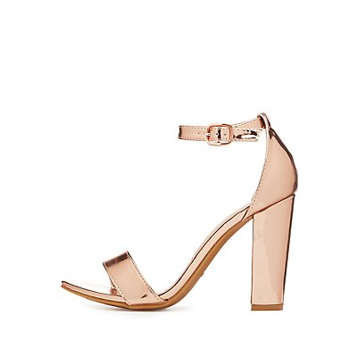 Bamboo Metallic Two-Piece Sandals
