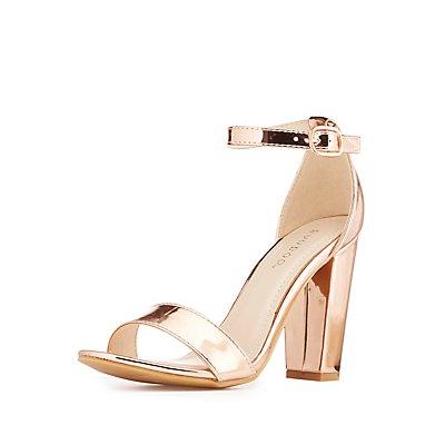 Bamboo Metallic Two-Piece Sandals