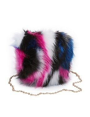 Faux Fur Crossbody Bag