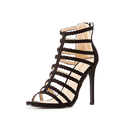 Strappy Braided Dress Sandals