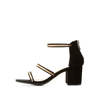 Bamboo Chain-Trim Three-Piece Sandals