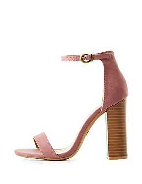 Faux Suede Two-Piece Sandals