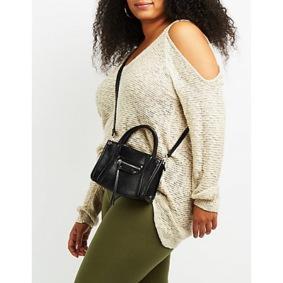Plus Size Slub Knit Cold Shoulder Sweater