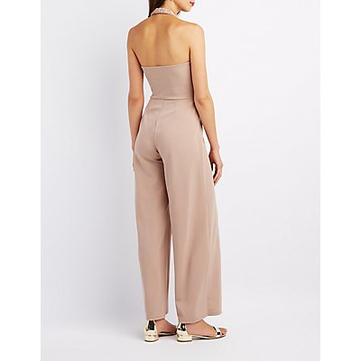 Halter Wide-Leg Jumpsuit