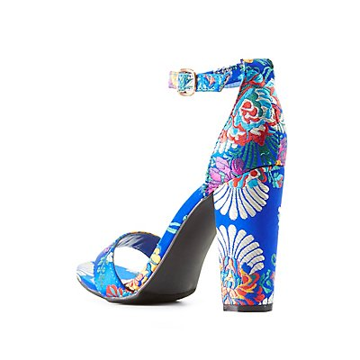 Bamboo Brocade Two-Piece Sandals