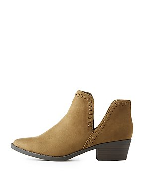 Whipstitch Cut-Out Booties