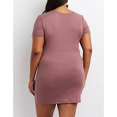 Plus Size Brushed Bodycon Dress