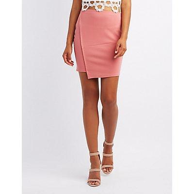 Mini Asymetrical Wrap Skirt