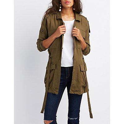 Lightweight Drawstring Anorak Jacket