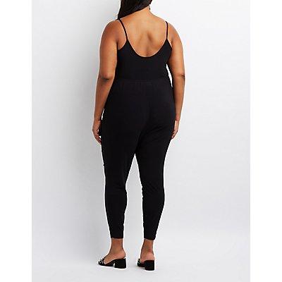 Plus Size Surplice Jumpsuit