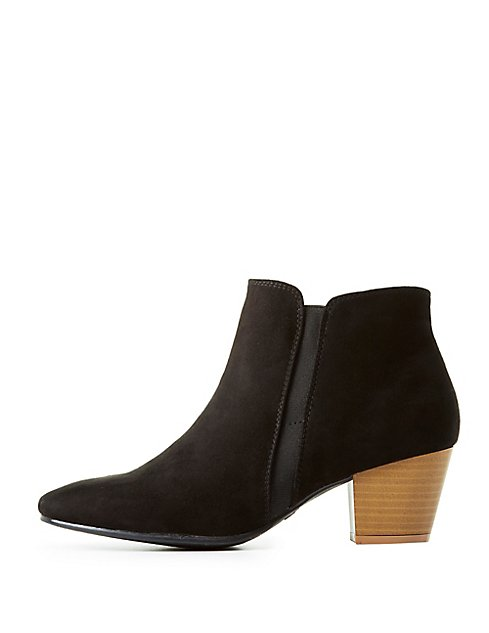 Qupid Faux Suede Ankle Boots DyfyBN