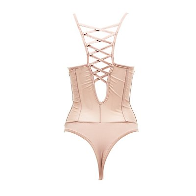 Bustier Lattice-Back Bodysuit