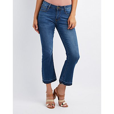 Machine Jeans Released Hem Flared Jeans