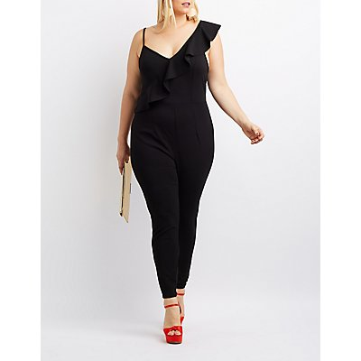 Plus Size Ruffle-Trim Jumpsuit