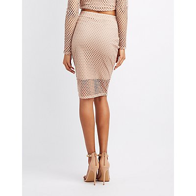 Fishnet Pencil Skirt