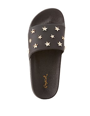 Star Studded Slide Sandals