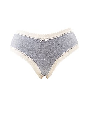 Plus Size Lace-Trim Cheeky Panties