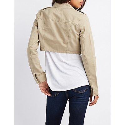 Cropped Anorak Jacket