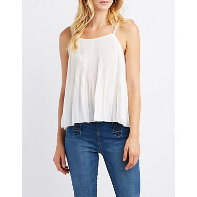 Micro Pleated Tank Top