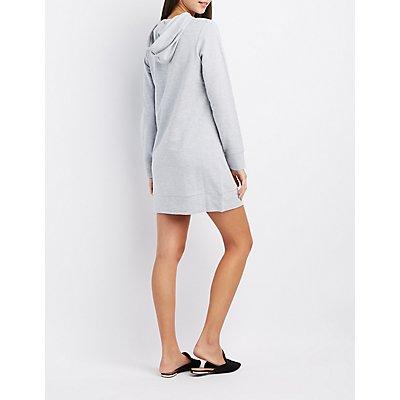 Feminista Hooded Sweatshirt Dress