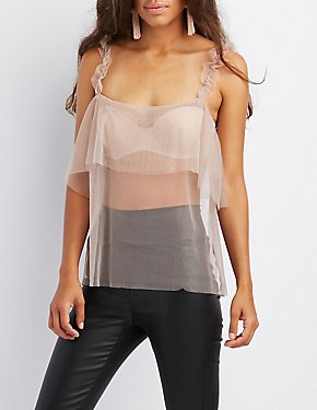 Mesh Tiered Tank Top