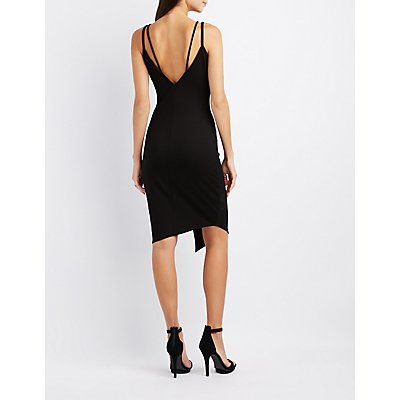 Strappy Asymmetrical Bodycon Dress