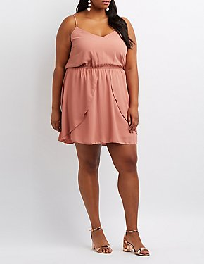 Plus Size Tulip Skater Dress