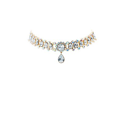 Plus Size Rhinestone Choker Necklace