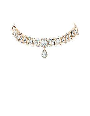 Plus Size Rhinestone Choker Necklace