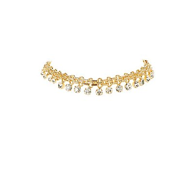 Embellished Chain Choker Necklace
