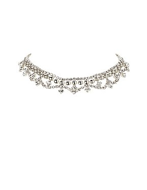 Embellished Chandelier Choker Necklace