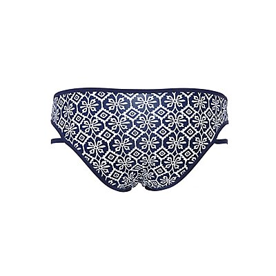 Printed Strappy Hipster Panties