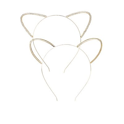 Embellished Cat Ear Headbands - 2 Pack