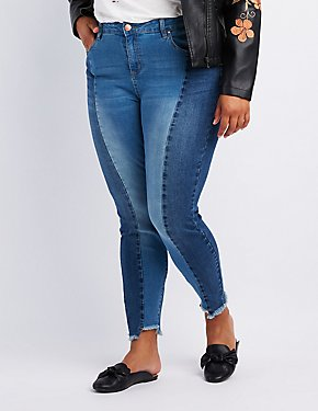 Plus Size Refuge Colorblock Straight Leg Jeans