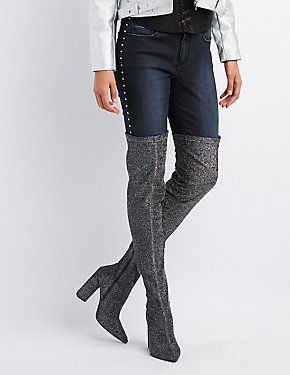 Glitter Over-The-Knee Boots