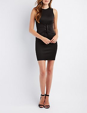 Corset-Detail Bodycon Dress