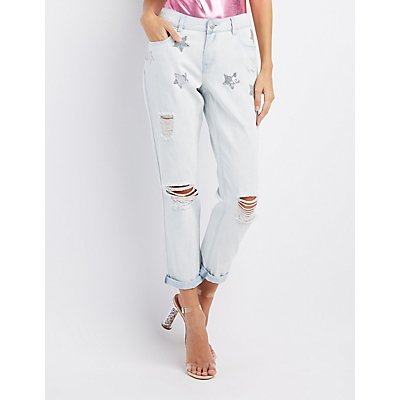 Refuge Star Destroyed Boyfriend Jeans
