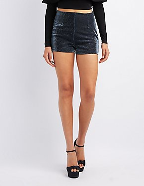 Metallic Hi-Rise Shorts