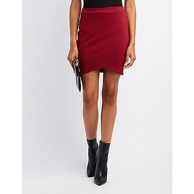 Banded High-Low Skirt