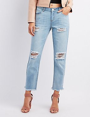 Refuge Boyfriend Destroyed Cut-Off Jeans