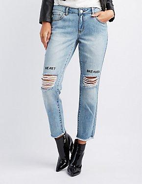 Refuge Heart Breaker Destroyed Jeans