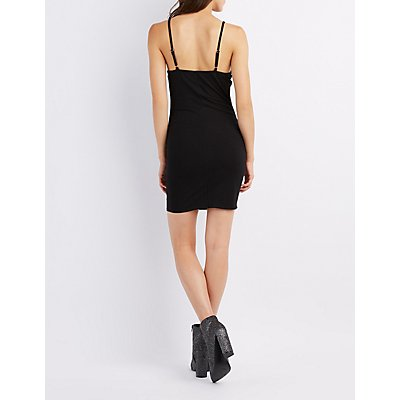 Sleeveless V-Neck Bodycon Dress