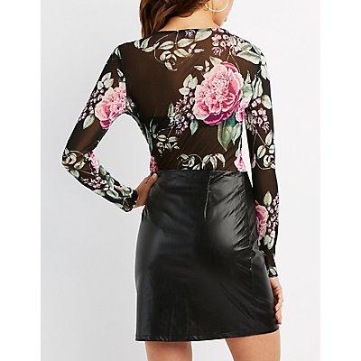 Floral Mesh Bodysuit