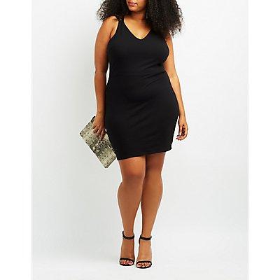 Plus Size Strappy Back Bodycon Dress