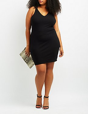 Plus Size Strappy Back Bodycon Dress