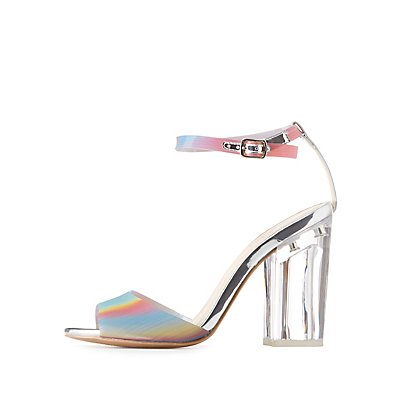 Qupid Rainbow Two-Piece Sandals