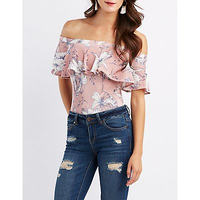 Floral Micro Pleated Bodysuit