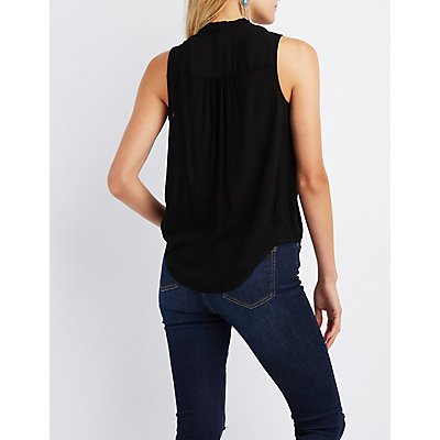 Surplice Tunic Tank Top